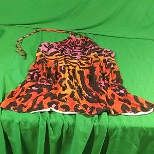 Lane Bryant sz 14/16 animal print halter top